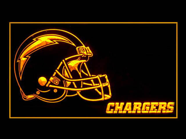 San Diego Chargers Helmet Display Shop Neon Light Sign