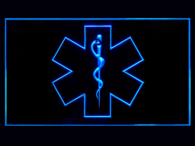 EMS Emergency Medical Services Bar Beer Neon Light Sign