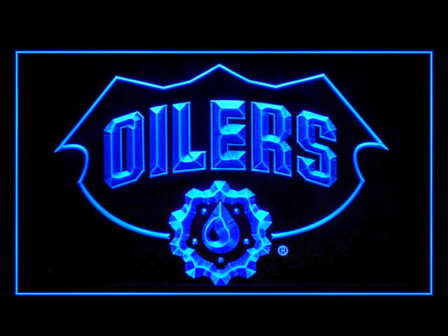 Edmonton Oilers Logo Display Shop Neon Light Sign