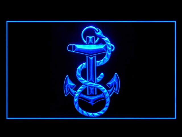 US Navy Marine Bar Beer Neon Light Sign