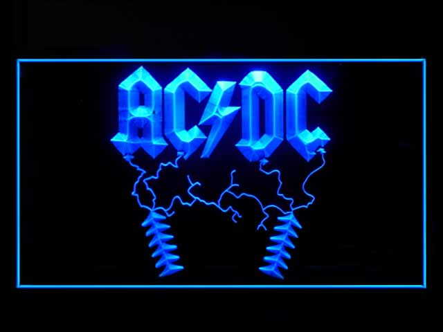 ACDC AC DC Rock Display Led Light Sign