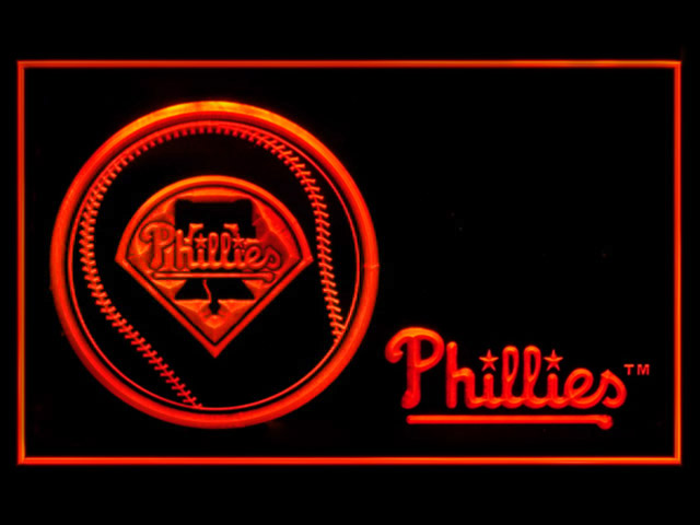 Philadelphia Phillies Baseball Display Shop Neon Light Sign