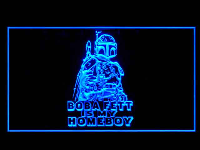 Boba Fett Star Wars Bounty Hunters Neon Light Sign