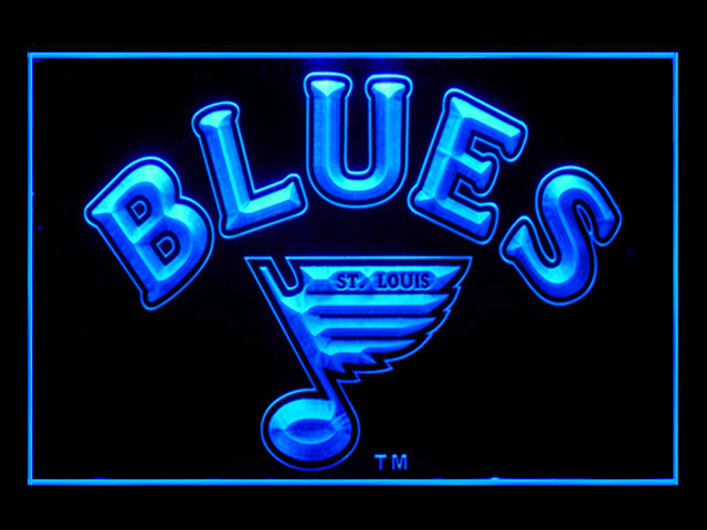St. Louis Blues Hockey Shop Neon Light Sign