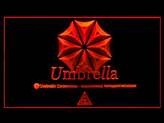 Umbrella Resident Evil Biohazard Neon Light Sign