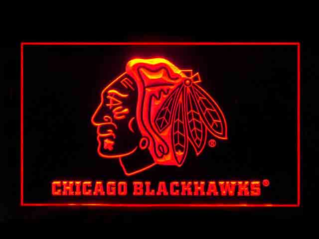 Chicago Blackhawks Indian Display Shop Neon Light Sign