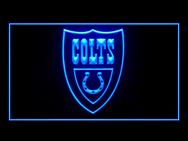 Indianapolis Colts Shield Display Shop Neon Light Sign