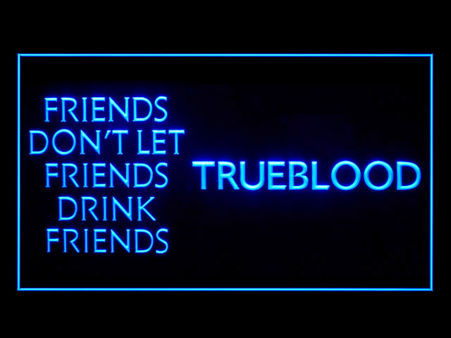 True Blood Blue Display Neon Light Sign