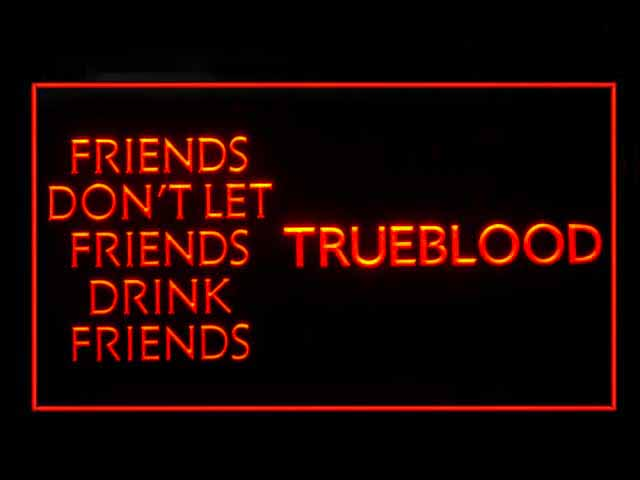 True Blood Red Display Neon Light Sign