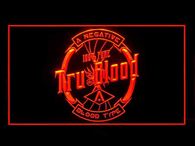 True Blood Label Blood Type Neon Light Sign