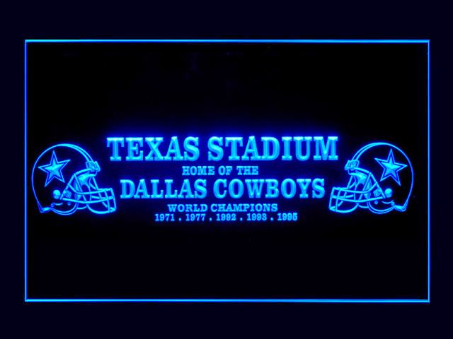 Dallas Cowboys Texas Stadium Display Shop Neon Light Sign