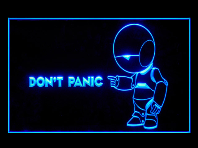 Hitchhikers Guide To The Galaxy Display Led Light Sign