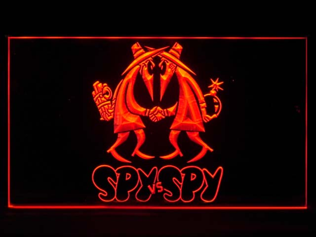SPY VS SPY Bar Neon Light Sign