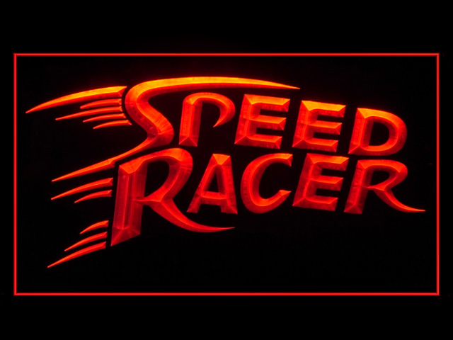 Speed Racer Bar Pub Neon Light Sign
