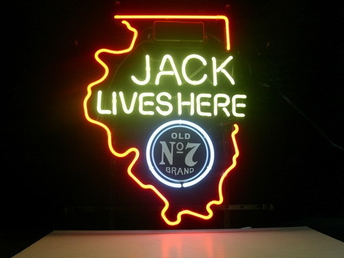 Jack Daniels Illinois State Classic Neon Light Sign 16 x 12
