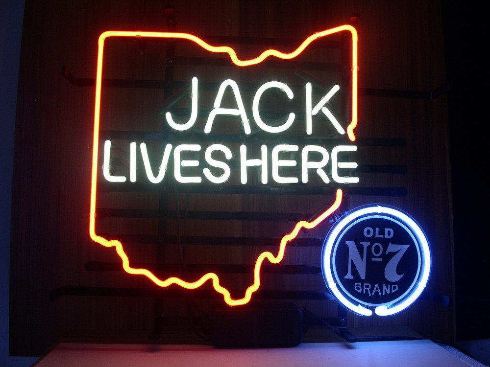 Jack Daniels Ohio State Classic Neon Light Sign 16 x 14