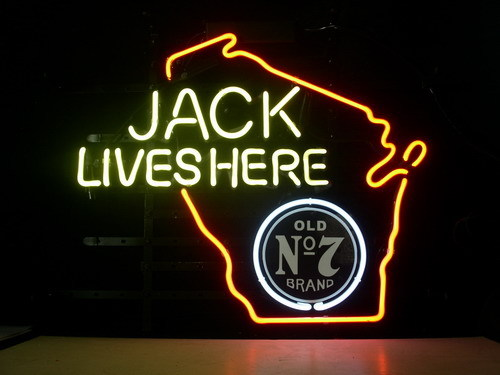 Jack Daniels Wisconsin State Classic Neon Light Sign 18 x 15