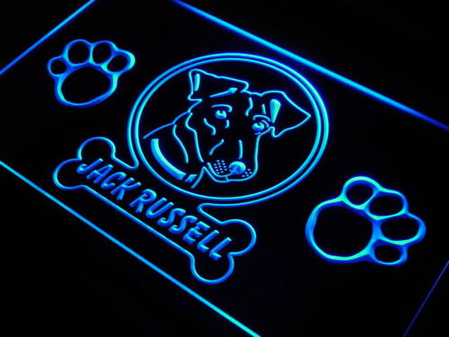 Jack Russell Paw Print Pet Shop Neon Light Sign