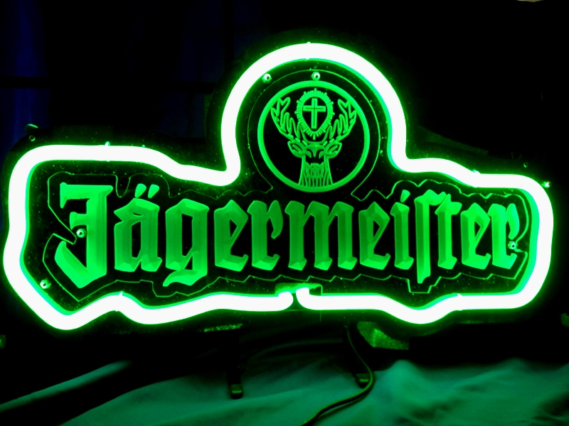 Jagermeister Green Bar Classic Neon Light Sign 17 x 13