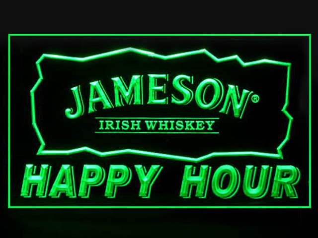 Jameson Whiskey Happy Hour Light Sign