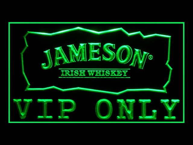 Jameson Whiskey VIP ONLY Sport Pub Store Light Sign