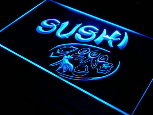 Japanese Cuisine Sushi Food Neon Light Sign