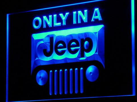 Jeep Only in A Jeep LED Neon Sign