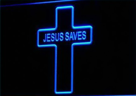 Jesus Saves Home Decor Display Neon Light Sign