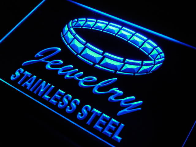 Jewelry Stainless Steel Neon Light Sign