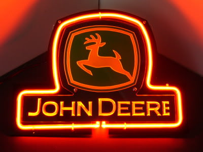 John Deer Tractor Logo Red Neon Bar Mancave Sign