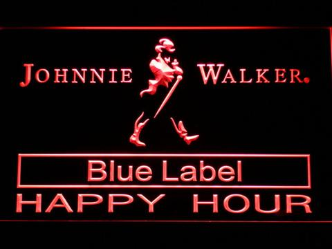 Johnnie Walker Blue Label Happy Hour LED Neon Sign