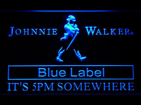 Johnnie Walker Blue Label It's 5pm Somewhere LED Neon Sign