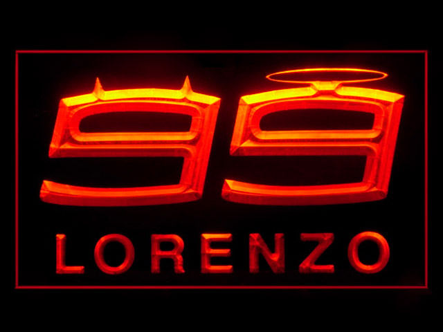 Jorge Lorenzo 99 LED Light Sign