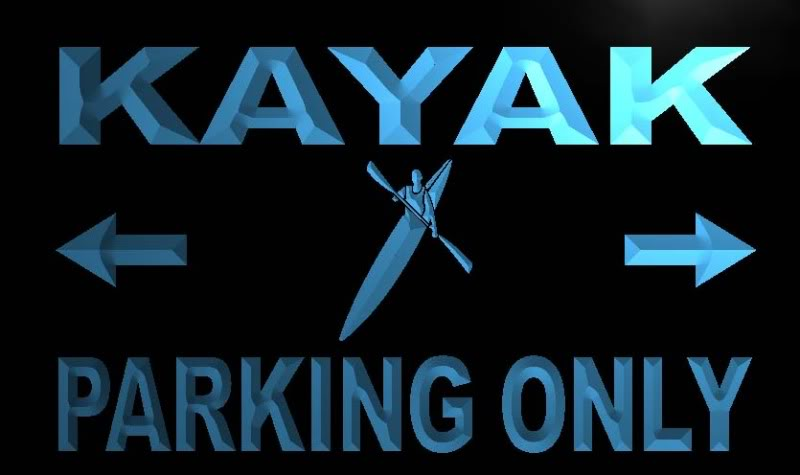 Kayak Parking Only Neon Light Sign