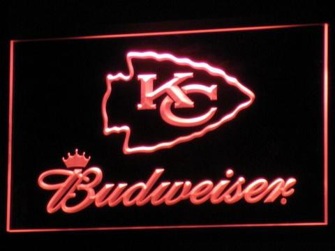 Kansas City Chiefs Budweiser LED Neon Sign