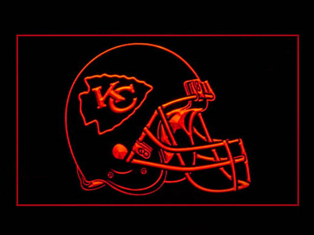 Kansas City Chiefs Helmet Display Led Light Sign