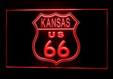 Kansas Route 66 LED Neon Sign