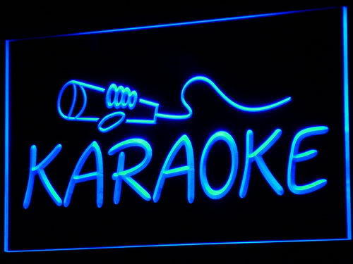 Karaoke NEW Lounge Box Club Logo Neon Light Sign