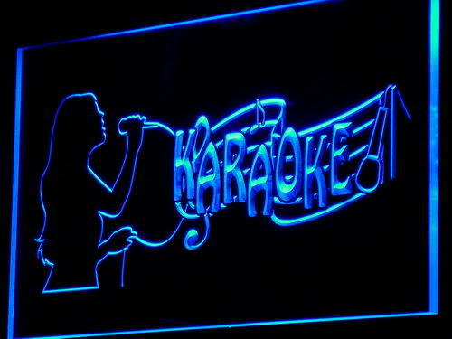 Karaoke Singing Lady Display Bar Neon Light Sign