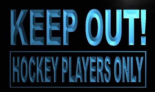 Keep out Hockey Players Only Neon Light Sign