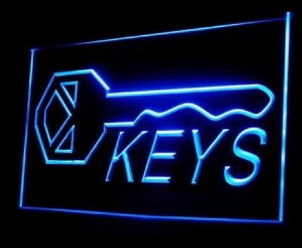 Keys Shop Lock Key LED Neon Sign