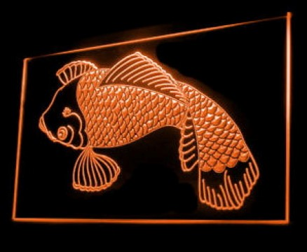 Koi Japanese Lucky Fish Traditional Tattoo Studio LED Neon Sign