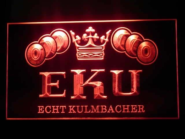 Kulmbacher EKU Logo Bar Pub Beer Store Neon Light Sign