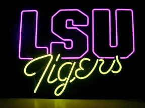 LSU Tigers Classic Neon Light Sign 17 x 14