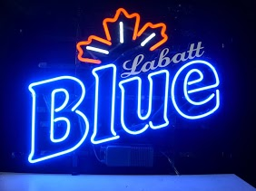 Labatt Blue Maple Leaf Classic Neon Light Sign 17 x 14