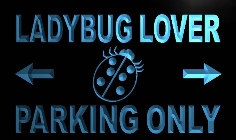 Ladybug Lover Parking Only Neon Light Sign