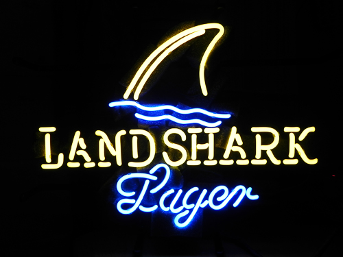 Landshark Lager Fin Blue White Classic Neon Light Sign 17 x 14