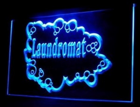Laundromat Dry Clean LED Neon Sign