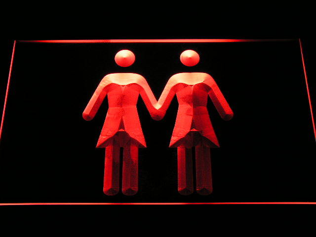 Lesbian Woman Woman Toilet Neon Light Sign