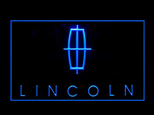 Lincoln Motors LED Light Sign